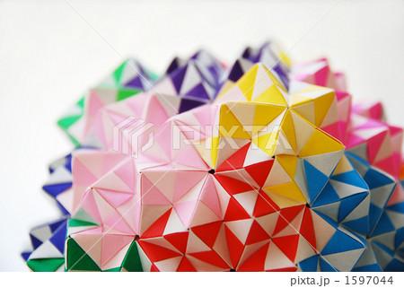 簡単 折り紙 折り紙 くす玉 ユニット : pixta.jp