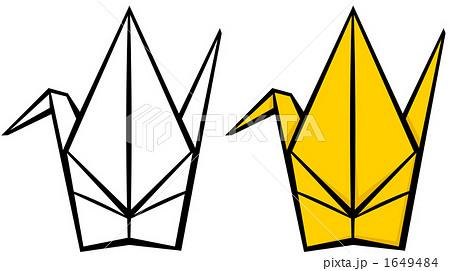ハート 折り紙:折り紙 鶴 イラスト-pixta.jp