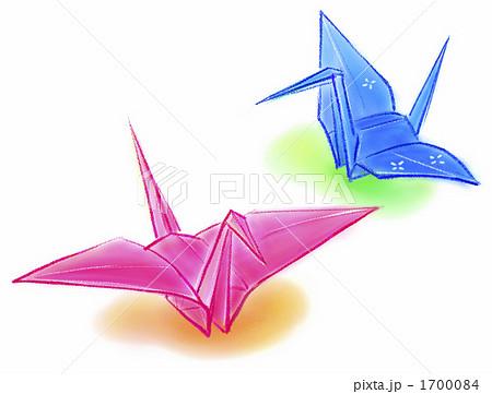 ハート 折り紙 折り紙 鶴 イラスト : pixta.jp
