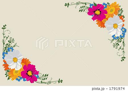 花飾り コスモス つる イラストのイラスト素材 Pixta