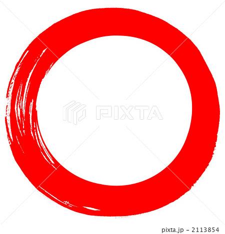 丸枠 手書き 筆書きのイラスト素材 Pixta