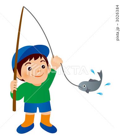 釣り 少年 子供 遊びのイラスト素材 Pixta
