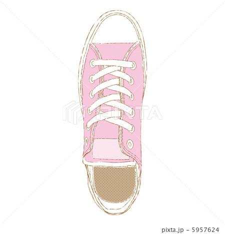 キャンバススニーカー ピンク