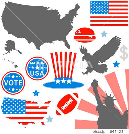 アメリカン 自由 ドル アイコンのイラスト素材 Pixta