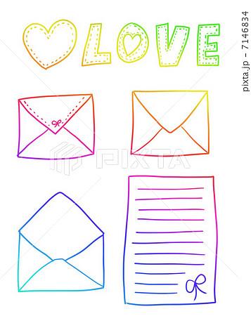 レターセット 手紙 素朴 封筒のイラスト素材 Pixta