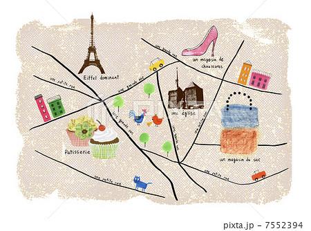 パリ ねこ ネコ 猫のイラスト素材 Pixta
