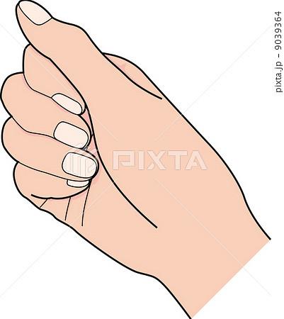 握る 手 イラスト 指 右手の写真素材 Pixta