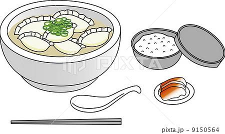 水餃子 イラスト素材の写真素材 Pixta