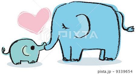 ゾウさん かわいいのイラスト素材 Pixta