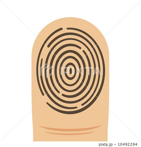 渦状紋 指紋認証 拇印の写真素材...