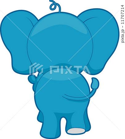 ゾウの後ろ姿 動物のイラスト素材 Pixta