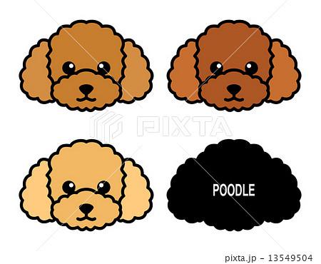 犬 プードル イラスト