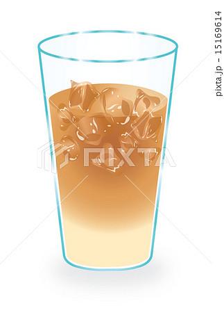 アイスカフェオレのイラスト素材 Pixta