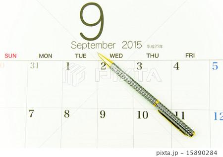 ボールペン カレンダー 数字 日付の写真素材 Pixta