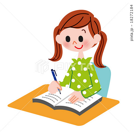 小学生 子供 勉強 宿題のイラスト素材 Pixta
