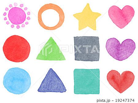 水彩 パーツ素材 図形