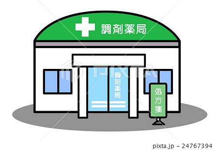 調剤薬局 ドラッグストア 薬局 店舗のイラスト素材 Pixta