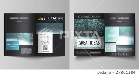 business templates for bi fold brochure magazineのイラスト素材