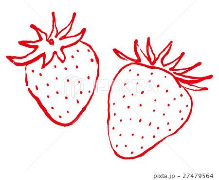 苺 手描き 水彩画のイラスト素材 27479564 Pixta