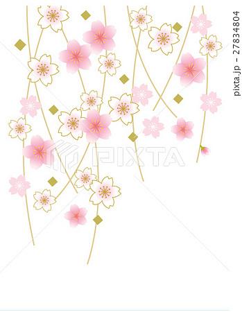 しだれ桜のイラスト素材 Pixta