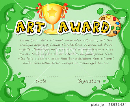 pixta certificate template with trophy on green yelopaper Gallery