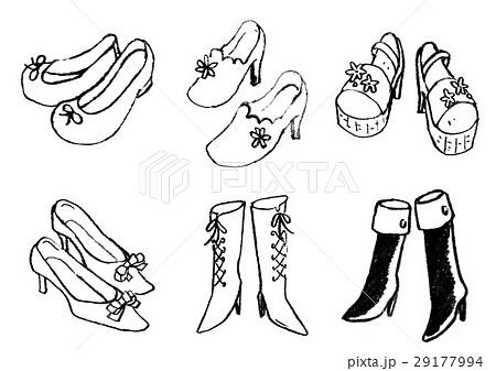 靴 ハイヒール パンプス おしゃれのイラスト素材 , PIXTA