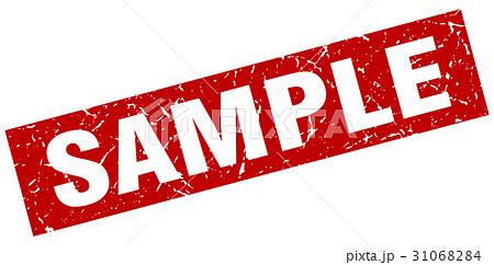 sample スタンプ 赤色 サンプル...