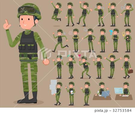 軍隊のイラスト素材 Pixta
