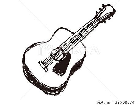 アコースティックギターのイラスト素材 Pixta