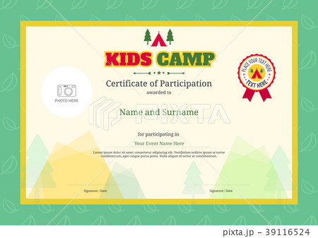 pixta kids summer camp diploma or certificate template yelopaper Image collections