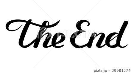 ベクトル The 終わり エンドのイラスト素材 Pixta