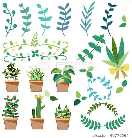 観葉植物のイラスト素材集 Pixtaピクスタ