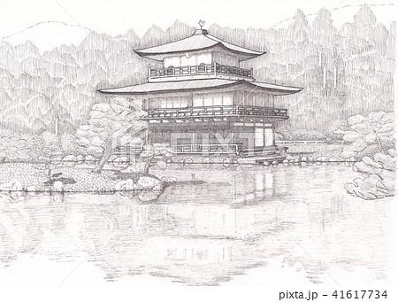 金閣寺のイラスト素材集 Pixtaピクスタ