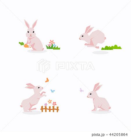 うさぎ ウサギ 兎 走るのイラスト素材 Pixta