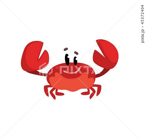 かに カニ 蟹 かわいいのイラスト素材 Pixta