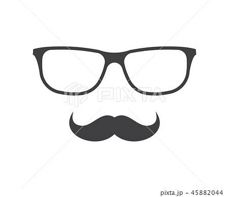 ヒゲ 髭 めがね メガネのイラスト素材 Pixta