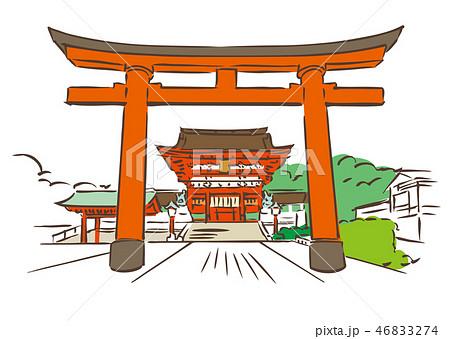 伏見稲荷大社のイラスト素材集 Pixtaピクスタ