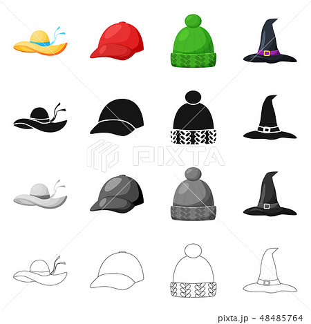 26dc8f431537e Vector design of clothing and cap icon. Collection of clothing and beret  stock vector illustration · 3d realistic red scarf ...