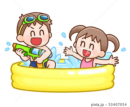 水遊びのイラスト素材 Pixta